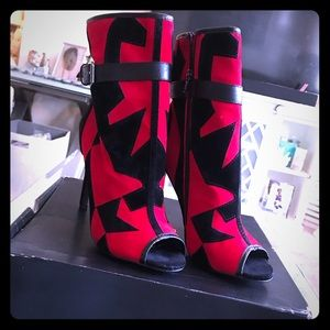 Scene by * Red and black Mimoza bootie